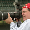 At the 2003 US Grand Prix at indianapolis using a preproduction Olympus digital SLR--the E-1--and 300mm f/2.8 lens (photo by John Rettie)