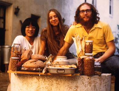 Debbie and Crawford in the courtyard circa 1974.