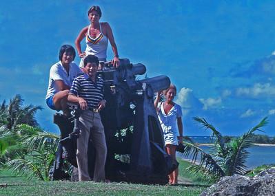 1985, our Guam trip to teach ATLS: Harvey Takaki, Sue Rausch, Rita Posi