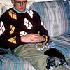 Sneakers at three months with Mark - November 1998