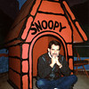 In the doghouse...again. (photo: Mary Farace at Snoopy's gaallery & Gifts, Santa Rosa, CA)