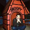 In the doghouse...again. (photo: Mary Farace at Snoopy's gaallery & Gifts, Santa Rosa, CA)
