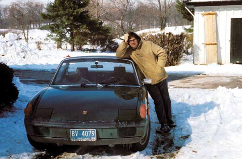 Joe, the last time he had no facial hair, with his new 1971 Porsche 914 (photo: Bob Geldmacher)