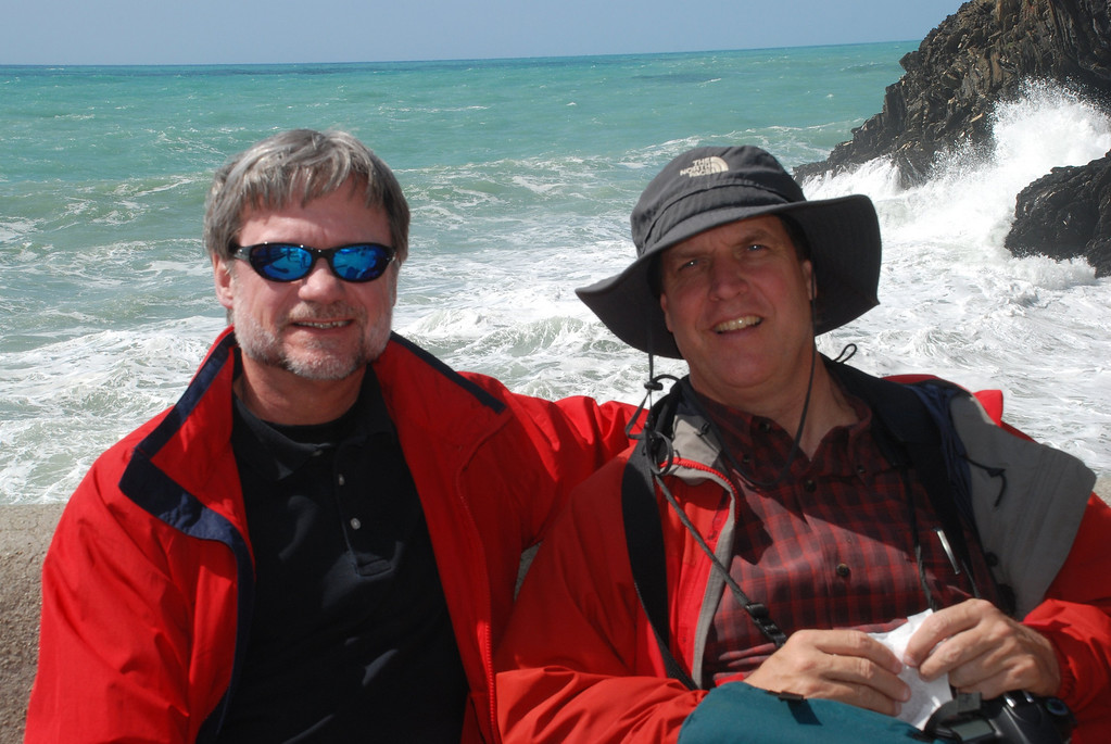Russ Head and me taking a break in Manarola, Italy