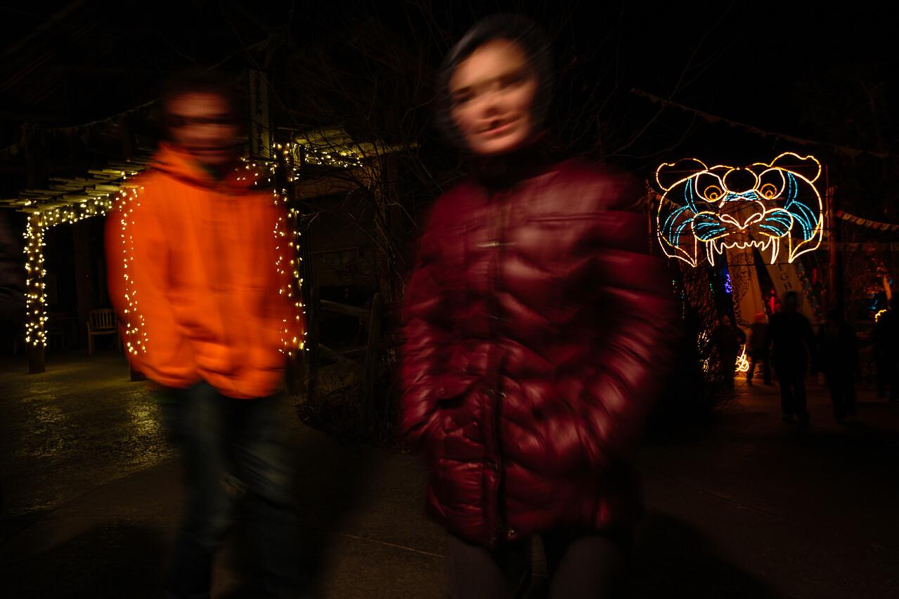 Wyatt & Livi at Zoo Lights