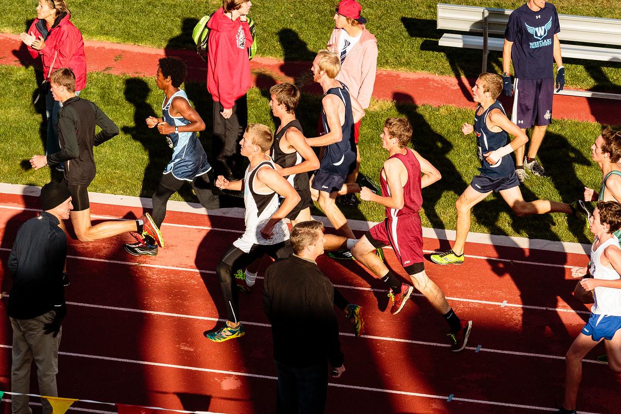 Chase running varsity at Spanish Fork HS