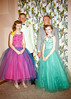 Alberta in her green dress with prom friends sometime around 1955. Dressing up for proms is still a thing.