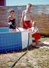 Me and my siblings in a backyard pool. Salt Lake City 1962.