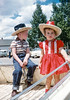 Me and my sister Aileen decked out in full western fair regalia. We are in the back of a small pickup that is parked somewhere near the Livingston Montana fairgrounds. When I was five I was frequently armed with cap guns and enjoyed ambushing anyone in range. My parents did not subscribe to the au courant idiocy of raising gender nonspecific children. It was a dark time – not!