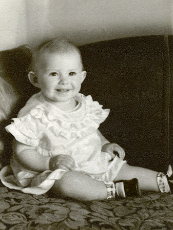 My mother Evelyn Eggar 1935-2013 around six months of age.  Even though she is only a baby here her smile would be instantly recognizable to anyone that knew her at any age.