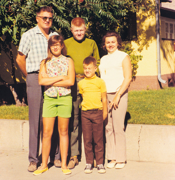 Our family after returning from Iran on the way  to Canada.  Snapped in front of my paternal grandparents house in Livingston Montana.