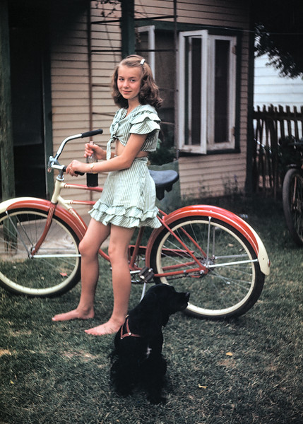 My mother Evelyn as a teenager in Phoenix. One of my mother's aunts fled to Phoenix in the 1940s to get away from an abusive husband. Other family members made the trip from Montana to Arizona to visit. Hazel must have shot this slide on one of those trips.