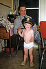 Me in a police hat, indian moccasins and tighty whiteys. I basically invented the Village People when I was two. Perhaps I should sue for concept infringment. From an old, very damaged,  Kodachrome slide by Hazel Eggar. It was a chore restoring this one but the subject matter demanded my full attention.