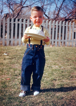 Hazel snapped this slide of Johnnie Gentry on his third birthday, (there are three candles are on the cake), in 1954.  Johnnie was the son of my great aunt Elsie making him a distant cousin. I am not sure if Johnnie is still alive (2019). I know his older sister Judy is still alive.