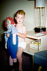 My brother with his favorite doll.