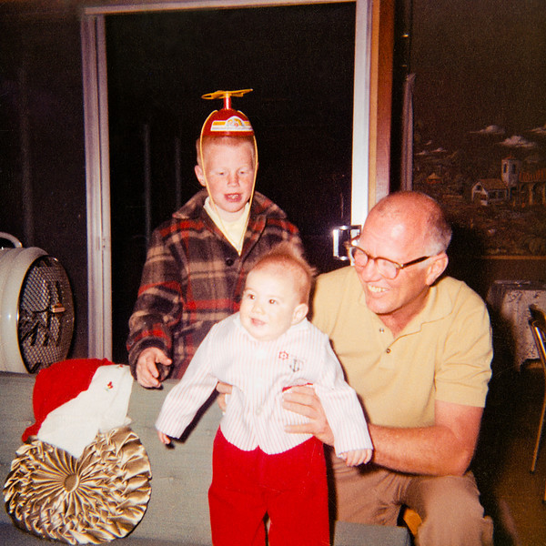 With my younger brother and uncle John. I was a propeller head pioneer.