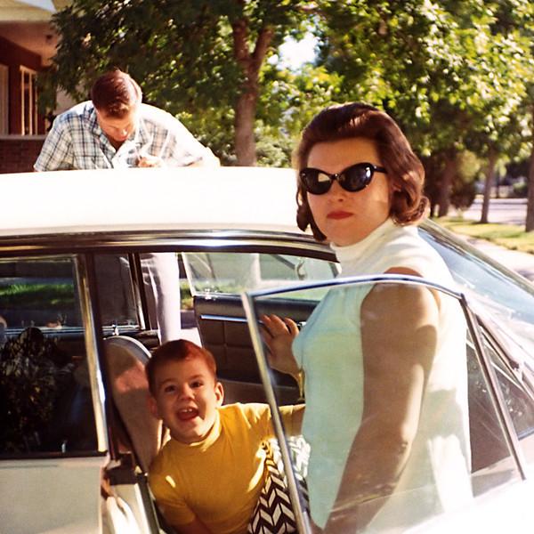Evelyn, Steve and Frank leaving Livingston.
