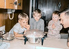My three cousins and uncle making popcorn in 1968. My youngest cousin, the one with the goofy exuberant expression, is still the more demonstrative of the three.