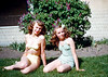 Evelyn and Alberta one summer in the early 1950s. Kodachrome slides hold their colors but they still fall victim to scratches and spots. While removing defects from this slide I found that sharpening the image, running Laplacian edge detection in the HSV color space, setting the white and black points way off the scale, followed by a Gaussian blur and another extreme setting of black and white points, produces a nice bit mask that mostly selects spots and scratches. I used this mask to blur spots and scratches after my normal tedious healing brush and clone routine. One of these days somebody is going to create an image defect removal program that actually works.