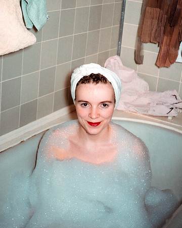 Alberta Bernice (Eggar) Drake (1939-2021). My aunt Alberta posing in a bubble bath. Alberta died in early 2021. I belatedly learned of her death from my brother. I'll miss Alberta. I know she suffered from recurring bouts of depression and spent much of her life yo-yo dieting. However, for me, she was a fun aunt. Goodbye Alberta.