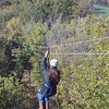 Giselle on the first zip line