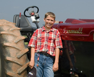 Ryan Ferguson and his 1948 Farmall tractor
