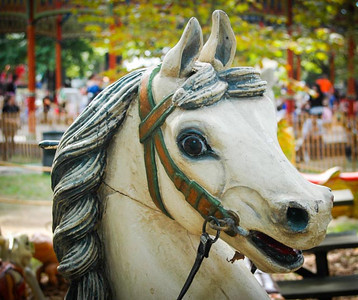 Antique Carousel Horse - Le Cirque Parisien, Governor's Island, New York
