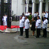 Honorary pallbearers waiting for Robredo's remains
