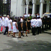 Robredo's remains approaching Kalayaan Hall.