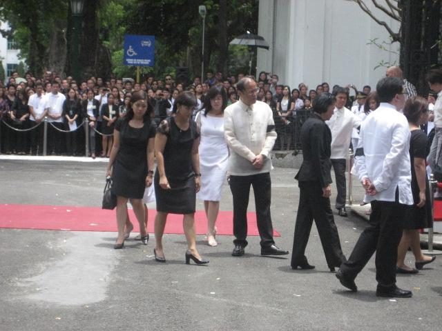 President Aquino with the Robredo family