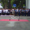 Police, Palace workers wait for the arrival of the remains of Secretary Robredo.