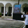 LCD projector outside Kalayaan Hall.