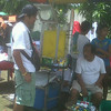 A vendor sells refreshments outside the Heritage Park in Taguig, where Dolphy will be laid to rest Sunday afternoon. (Virgil Lopez/Sunnex)