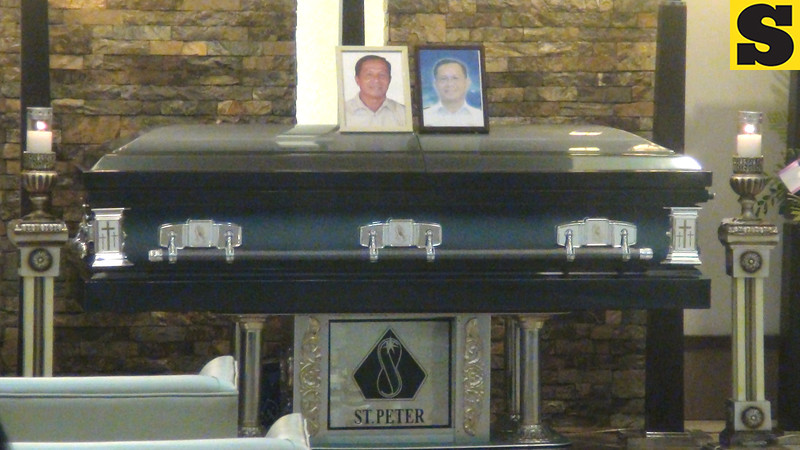 Casket of Jessup Bahinting at St. Peter's Funeral Homes. (Sunnex)