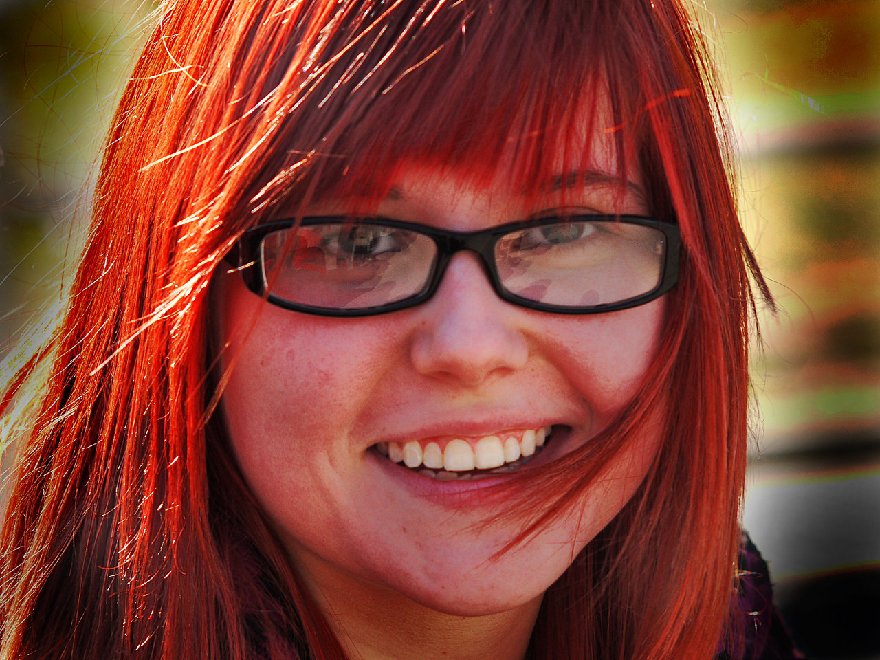 REDHEAD- WASHINGTON SQ. PARK, N.Y.C.- G1 WITH 135MM (270MM EFL) NIKKOR-Q f2.8.