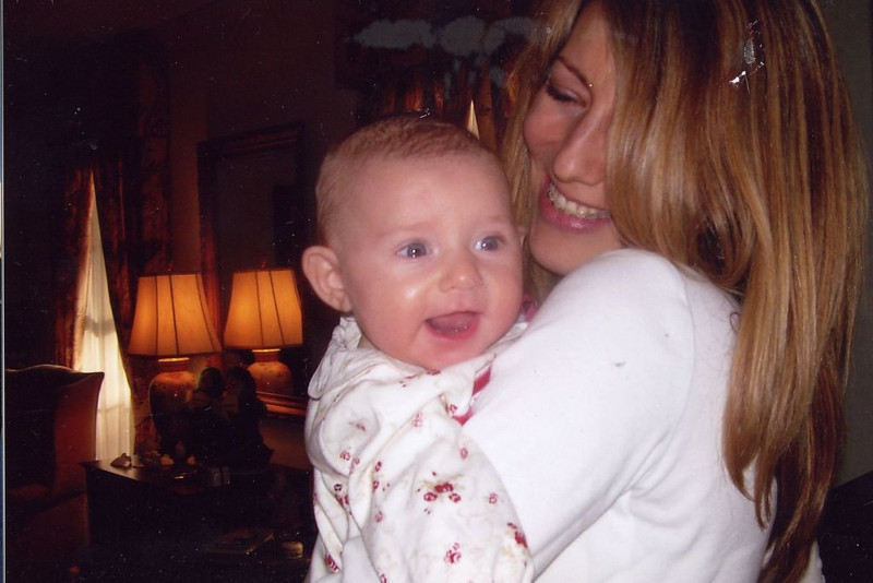 Joyce Tyndall Faucette's Youngest Grandchild with her Mother