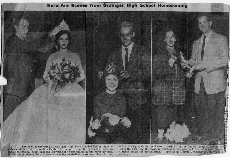 Homecoming 1957 Kinston Daily Free Press