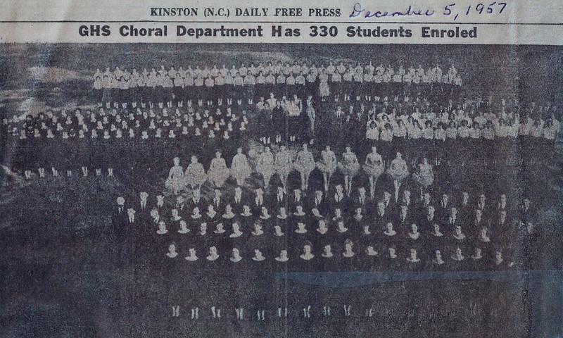Music Groups, 1957 Kinston Daily Free Press