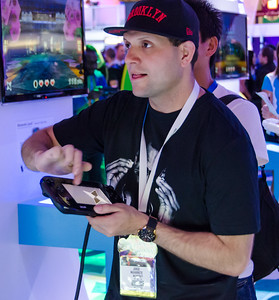 Gamer with Wii U at E3 2012