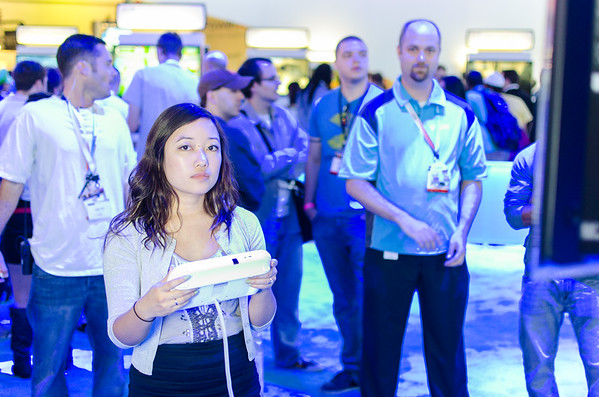 Gamer girl with Wii U controller at E3 2012
