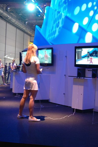 Girl on EA booth