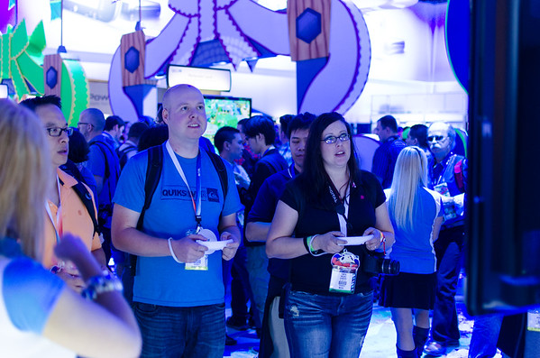 Gamers with Wii U at E3 2012