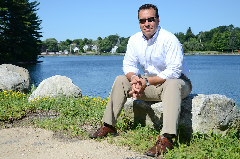Gardner Mayor Mark Hawke said the city's water resevoirs are full, including the one in Crystal Lake behind him, but the Massachusetts Department of Environmental Protection is requiring residents to limit their water use in case there is a drought later in the summer, a rule Hawke opposes. SENTINEL & ENTERPRISE / Ashley Green