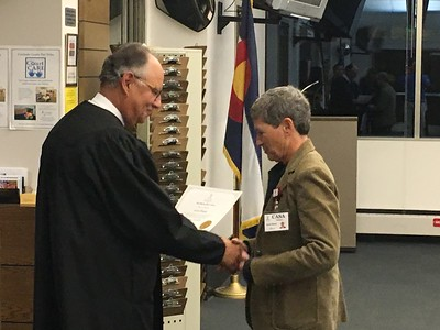Gayle Humm sworn-in as CASA volunteer - 11/17/16