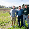 John, Warren, and Paul Gove at Gove Farm in Leominster. SENTINEL & ENTERPRISE / Ashley Green