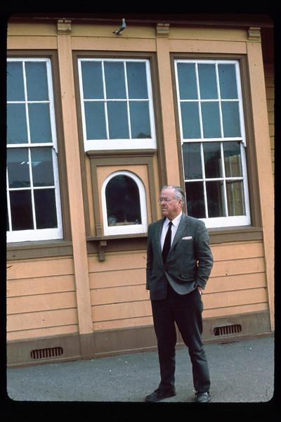 Al Singleton, Goleta Depot's last resident agent, 1968. Color slide by Jack Cogan.