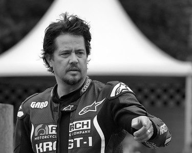 Gard Hollinger points at the Goodwood Festival of Speed 2016