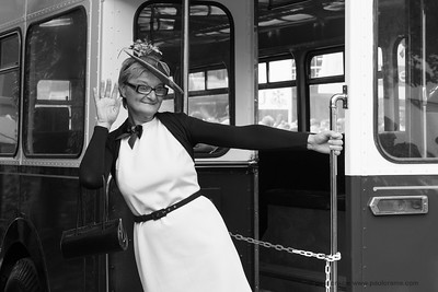 A Wave Aboard the Bus - The Goodwood Revival 2018