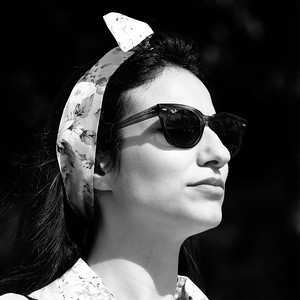 Floral Headband and Shades - Goodwood Revival 2015