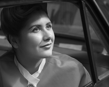 Glamcab Backseat Girl  BW2- The Goodwood Revival 2018